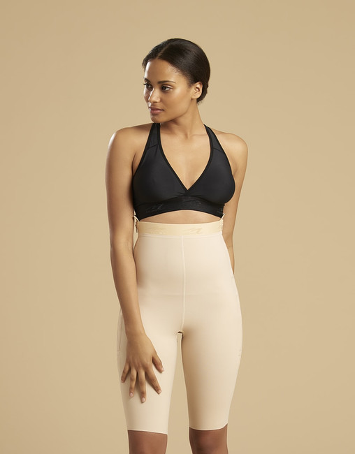 Marena Recovery LGS thigh-length compression girdle, seen here with the ME-811 bra (sold separately).