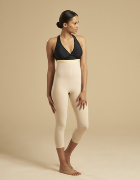 Marena Recovery LGM2 calf-length compression girdle, seen here with the ME-811 bra (sold separately).