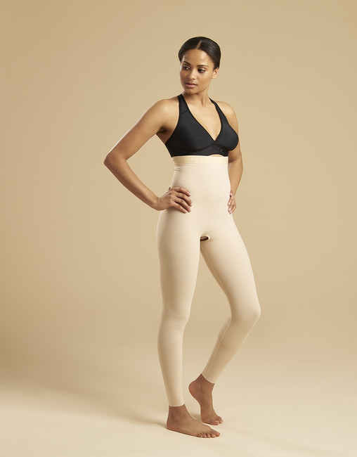 Marena Recovery LGL2 ankle-length compression girdle zipperless, seen here with the ME-811 bra (sold separately).