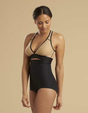Marena Recovery LGA2 panty-length compression girdle zipperless, seen here with the ME-811 bra (sold separately).