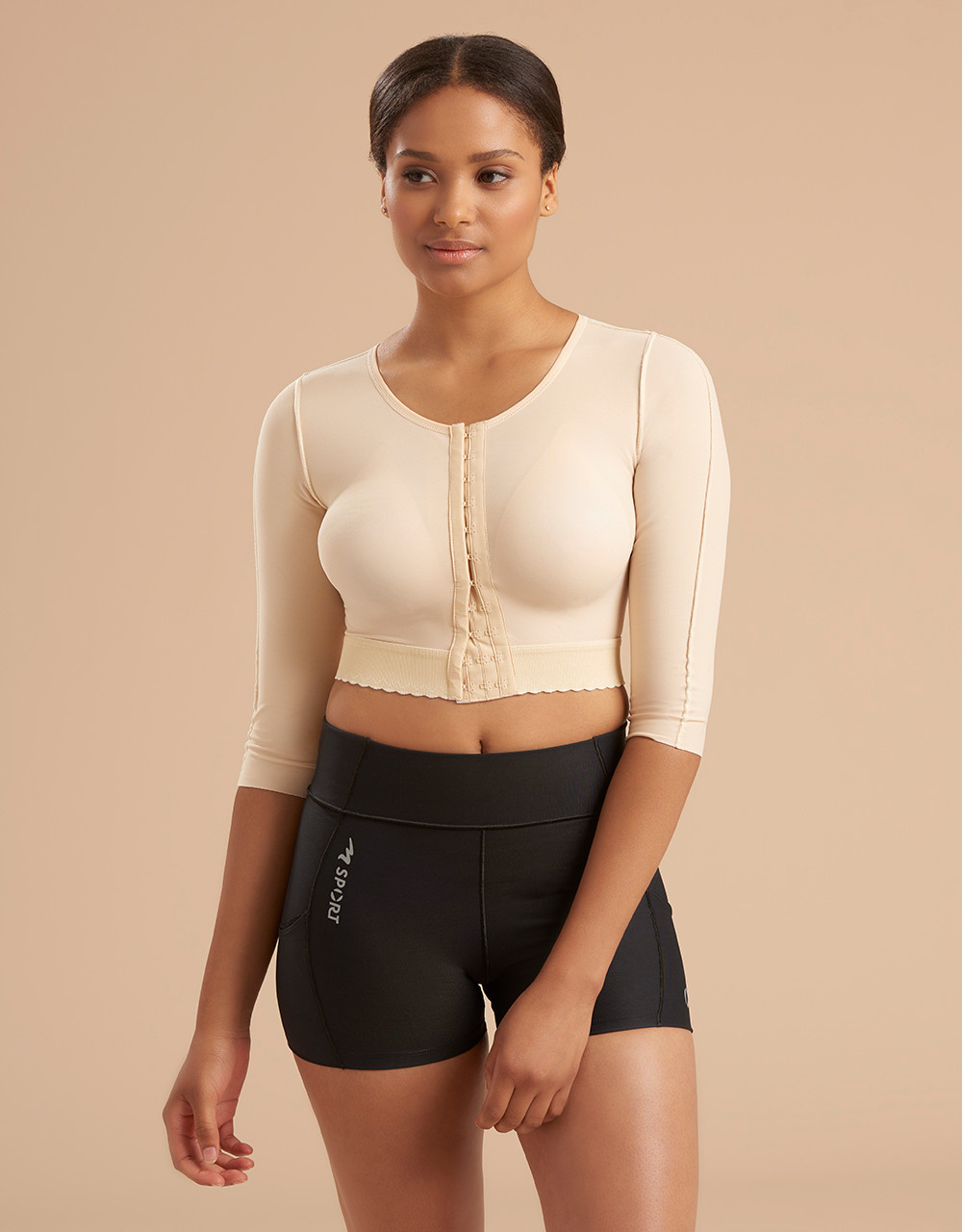 09800d28f13 3 4-Length Sleeve Compression Vest