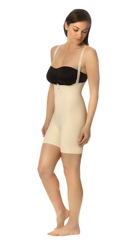 373eab3b00b3e Mid-Thigh Compression Girdle with Suspenders - Zipperless