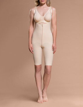 Marena Recovery FBOS open buttock above-the-knee girdle, seen here with the BA classic bra (sold separately).