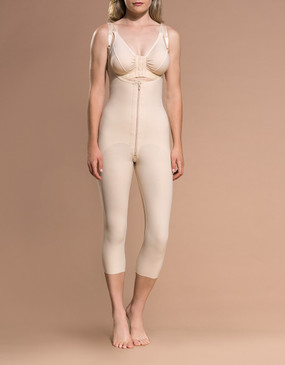 Marena Recovery FBOM open buttock capri-length girdle, seen here with the BA classic bra (sold separately).