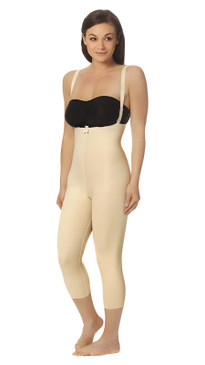 Marena Recovery FBM2 capri-length girdle with suspenders zipperless (bra not included).