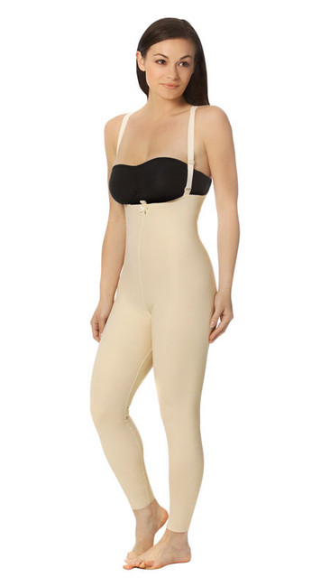 Marena Recovery FBL2 Ankle-Length Girdle with Suspenders - Zipperless