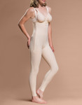 Marena Recovery FBL ankle-length girdle with suspenders, seen here with the BA classic bra (sold separately).