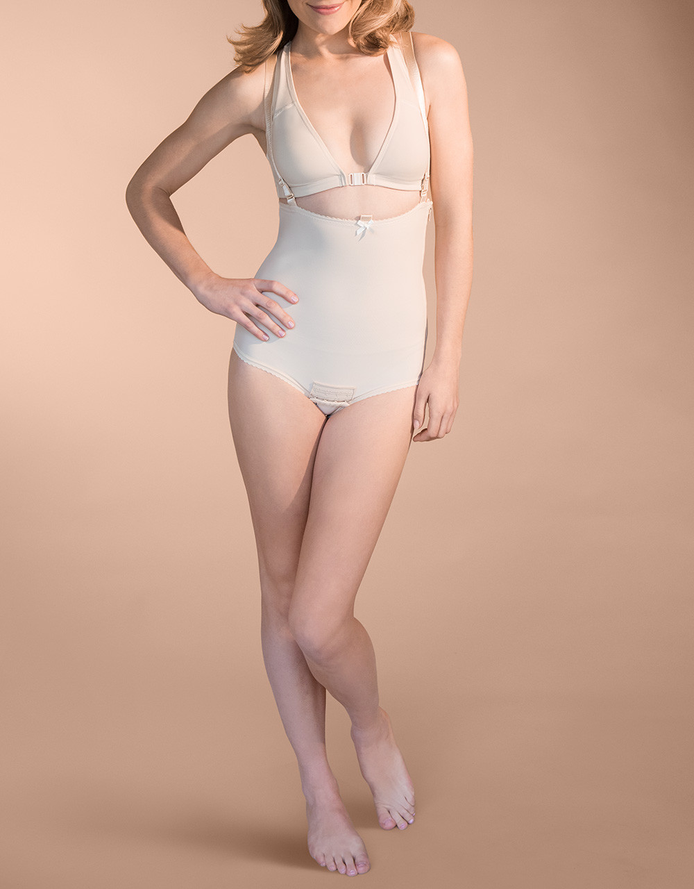 183dbd224e124 Panty-Length Compression Girdle with Suspenders