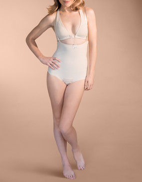 Marena Recovery FBA panty-length girdle with suspenders (bra sold separately).