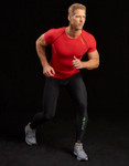 Marena Sport 502 short sleeve compression shirt, seen here with the 626 pro compression leggings for men (sold separately).