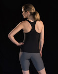 Marena Sport 105 racer back tank, seen here with the 224 core compression short for women (sold separately).
