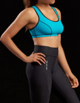 Marena Sport 225 core compression capri for women, seen here with the 100 classic compression sports bra (sold separately).