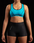 Marena Sport 227 elite compression short w/pocket, seen here with the 100 classic compression sports bra (sold separately).