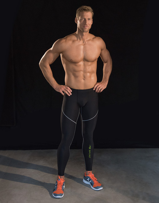 Marena Sport 606 pro compression drawstring leggings for men.