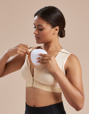 Marena Recovery B16P full coverage bra with pockets- seamless cup (bottoms sold separately).
