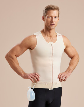 Marena Recovery UV/CP drain bulb management vest, seen here with the 625 core compression shorts for men (sold separately).