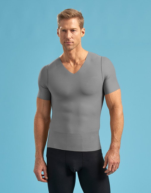 Marena Shape ME-1001 new arrival short sleeve compression v-neck, seen here with the 625 core compression shorts for me (sold separately).
