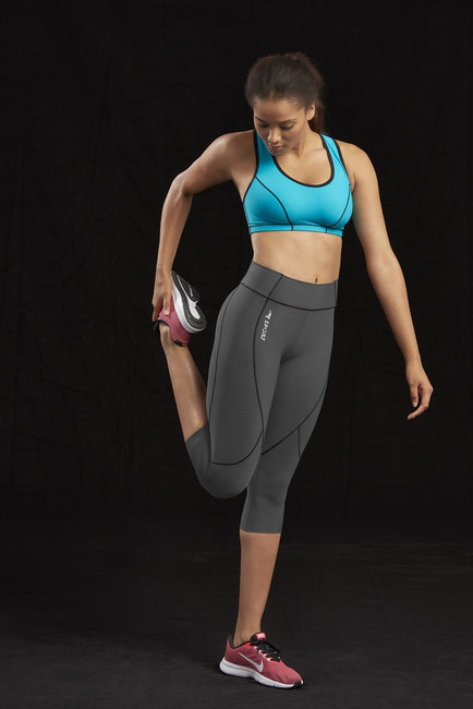 Marena Sport 229 women's elite capri legging, seen here with 100 classic compression sports bra (sold separately).