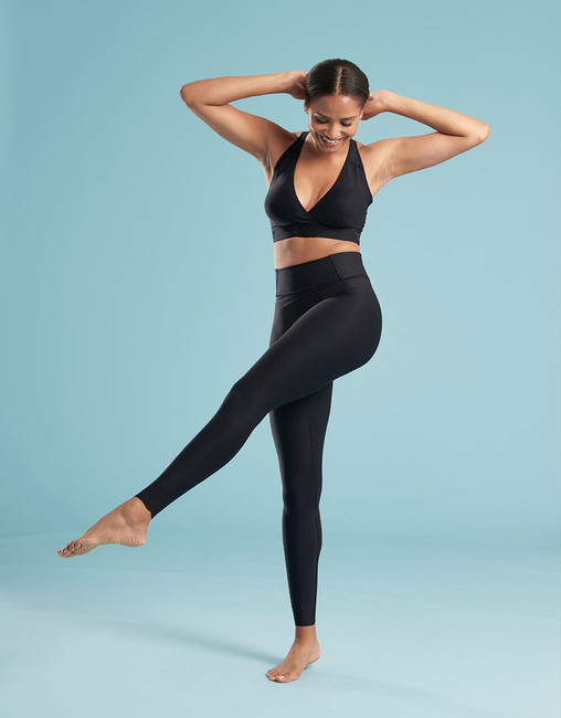 The ME-611 Compression Leggings for Travel Comfort. Compression bra sold separately.