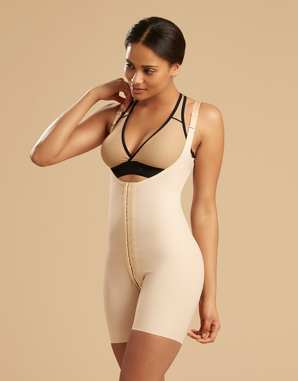 aca62b25ea SFBHT | Compression Bodysuit Mid Thigh Length - Marena Group