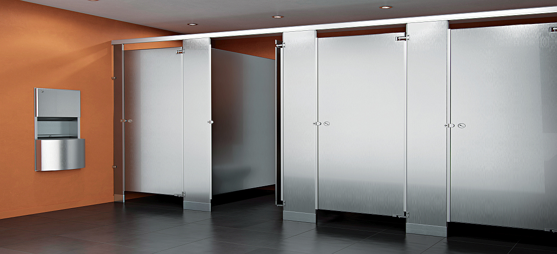 Stainless Steel toilet stalls - Restroom Stalls and All
