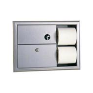 Sanitary Napkin Disposal And Toilet Tissue Dispenser
