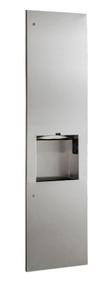 Towel Dispenser, Hand Dryer & Waste, Recessed 8-inch, 115V
