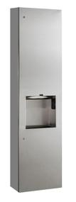 Towel Dispenser, Hand Dryer & Waste, Surface Mounted, 115V