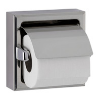 Toilet Tissue Dispenser with Hood, Bright-Polished