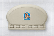 Baby Bear Oval Plastic Changing Station (Sandstone)