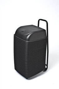 36 Cinema Seats with Rolling Cart (Black)