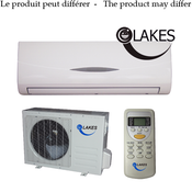 Lakes 12000BTU Heat Pump, W/Indoor Unit & Outdoor Unit & Remote