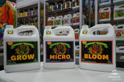 Advanced Nutrients, Grow, Bloom, Micro, 4L (Promo Pack)