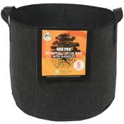 Gro Pro Essential Round Fabric Pot w/ Handles 5 Gallon - Black