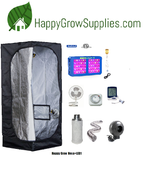 Happy Grow Hexa+LED1, 2ft X 2ft x 6.5ft LED Grow Kit