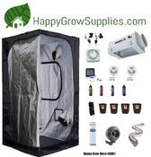 Happy Grow Hexa+ACDE1, 5ft X 5ft Nanolux Air Cooled DE Grow Kit