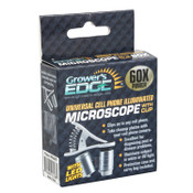 Grower's Edge® Universal Cell Phone Illuminated Microscope with Clip 60x