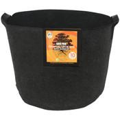 Gro Pro Essential Round Fabric Pot w/ Handles 10 Gallon - Black
