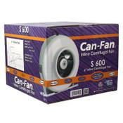 CAN-FAN, S600, 6 inch Inline Fan