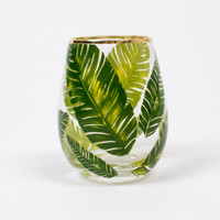 Stemless Wine Glass- Palm