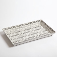 Leather Tray- Python - Large