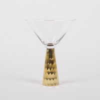 Martini Glass-Gold Geo