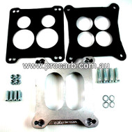 Chevrolet 8cyl Models with 4BBL Rotchestor Quadrajet to Holley 4BBL Squarebore - Part # 10-553/4