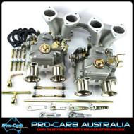Datsun A14 & A15 engines 2 x 40 1200 DCOE FAJS (Weber repl, ) Conversion Kit