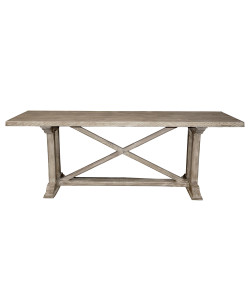 X-Console Table in Medium Antique Painted Finish