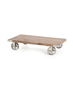Norwood Recycled Wood/Iron Coffee Table