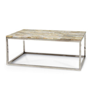 Mosaic Petrified Wood Coffee Table
