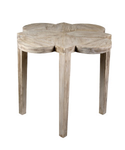 Quatre Feuille Side Table in Medium Antique Painted Finish