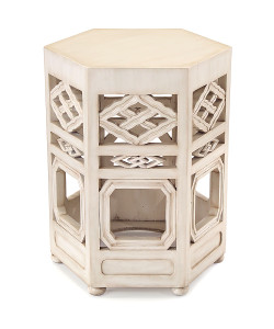 Travers Accent Table in Glazed White