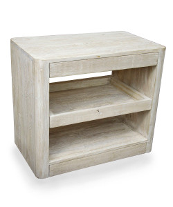 Mayito Side Table with Gray Wash Wax Finish